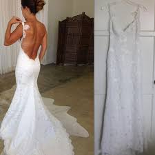 backless wedding dresses 2017 backless wedding dresses lace spaghetti straps mermaid bridal