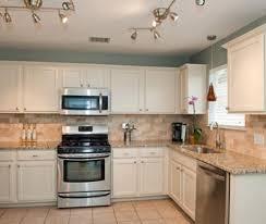 Light Blue Kitchen Cabinets by Transitional L Shaped Light Blue Kitchen Cream Cabinets 20 000