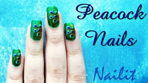 nail art designs peacock nail nail art tutorial 2013 best diy