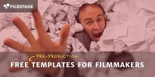 163 free templates for filmmakers part 1 pre production