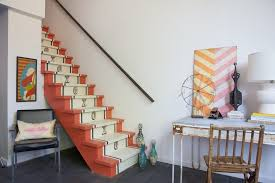 stairway paint ideas staircase eclectic with tablescape themed