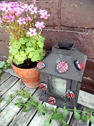 2 ladybug magnets pair painted rock magnet painted rocks
