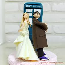 tardis wedding cake topper back to the future geeks in