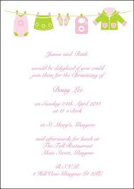 Wedding Invitations Glasgow Personalised Baby Christening Flat Invitations Clothes Line