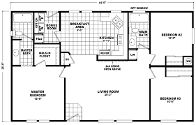 Floor Plans For Mobile Homes Double Wide Sherwood 28 X 44 1173 Sqft Mobile Home Factory Select Homes