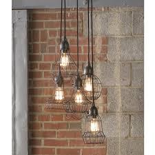 Industrial Lighting Chandelier Industrial Cage Work Light Pendant Shades Of Light