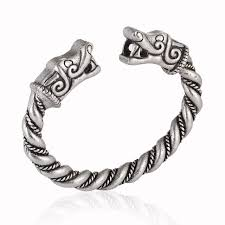 men jewelry bracelet images Handmade norse viking wolf bangles bracelets chunky twisted silver jpg