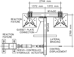 cyclic flexural testing of concentrically braced frame beam column