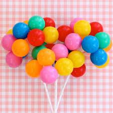 plastic balloons party balloon cupcake picks 3 stems rainbow balloon cake