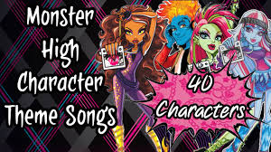 monster character theme songs 40 characters