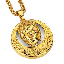 aliexpress buy nyuk mens 39 hip hop jewelry iced out nyuk metal alloy moon disc lion pendants necklaces animal