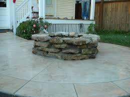 diy concrete patio ideas fire pits design wonderful htl concrete stamped colored firepit