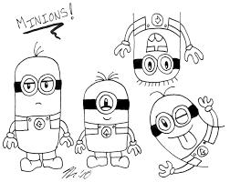 coloriage ã dessiner minions moi moche et mã chant en ligne