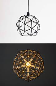these delicate and handmade pendant lights offer a geometric