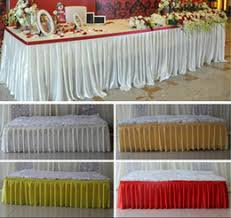 Cloth Table Skirts party decoration silk table cloth online party decoration silk