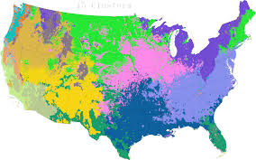 Continental United States Map by Continuing Statistical Tests For Continental Zonation