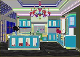 luxury kitchen 3d model cgtrader