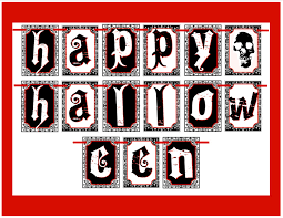 happy halloween printable letters u2013 festival collections