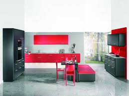 kitchen kitchen island with breakfast bar red and black color