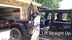 how to take doors a jeep wrangler jeep wrangler tutorial how to remove the doors