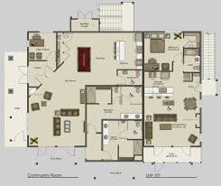 architecture office apartments cozy clubhouse main floor plan