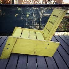 Vintage Adirondack Chairs São Rafael Modern Vintage Reclaimed Wood Deck Chair