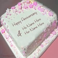 wedding cake name name on wedding anniversary cake