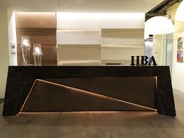hba dubai office reception desk and walls design by me my