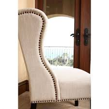 linen chair abbyson living kyrra tufted linen wingback dining chair in