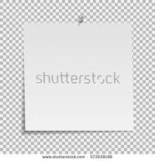 Note Sheet Template Sticky Note Isolated On Transparent Background Stock Vector