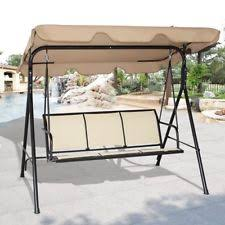 4 person patio swing glider furniture chair w canopy outdoor