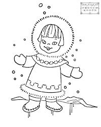 eskimo clipart winter kid pencil and in color eskimo clipart