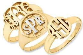 personalized rings for jewelers custom gold and sterling silver signet ring 1