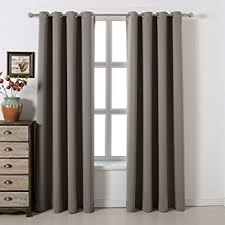 Noise Insulating Curtains Amazon Com Blackout Bedroom Curtains Set 100 Polyester Grommet