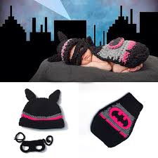 Crochet Newborn Halloween Costumes Aliexpress Buy Crochet Newborn Batgirl Pink Batman Cap