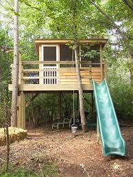Simple Backyard Tree Houses by Playhouse Extérieur Outside Pinterest Playhouses Backyard