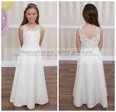lace white first holy communion dress 2015 vestidos de comunion