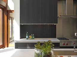 Stainless Steel Backsplash Kitchen by Minimal Great Room Under Cabinet Lighting Two Tone Cabinets Range
