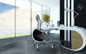 White Office Furniture Stylish Curved White Modern Office Furniture In An Upmarket Office