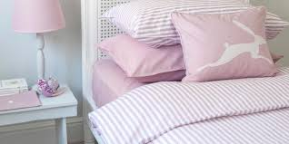 plain jacquard reversible pink fitted sheet harriet hare