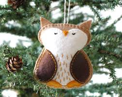 Felt Penguin Christmas Ornament Patterns - pdf pattern woodland fox winter felt ornament pattern