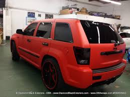 jeep red jeep grand cherokee srt8 wrapped in matte red 3m by dbx diamond