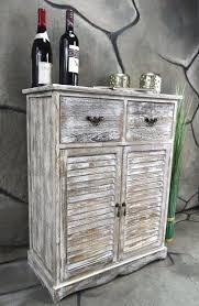 Wohnzimmer Uhren Holz Kommode Schrank Mit 2 Schubladen Landhaus Shabby Chic Vintage Weiß