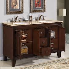 elegant curved lines cherry burl bathroom vanity unit with golden