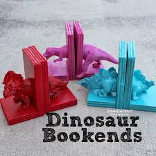 i am so excited about this glue project dinosaur bookends i