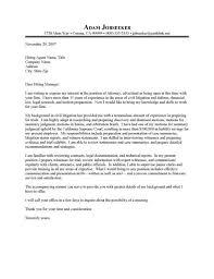 sample cover letter for legal internship