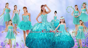 quinceanera packages popular beaded quinceanera gown and aqua blue dama dresses and