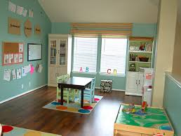 fun playroom ideas for kids with simple wooden table and chair