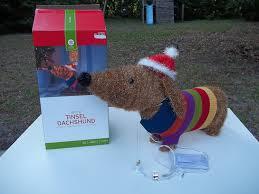 amazon com 27 christmas dachshund tinsel lighted inside outside
