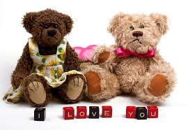 s day teddy bears teddy bears with heart s day stock photo image